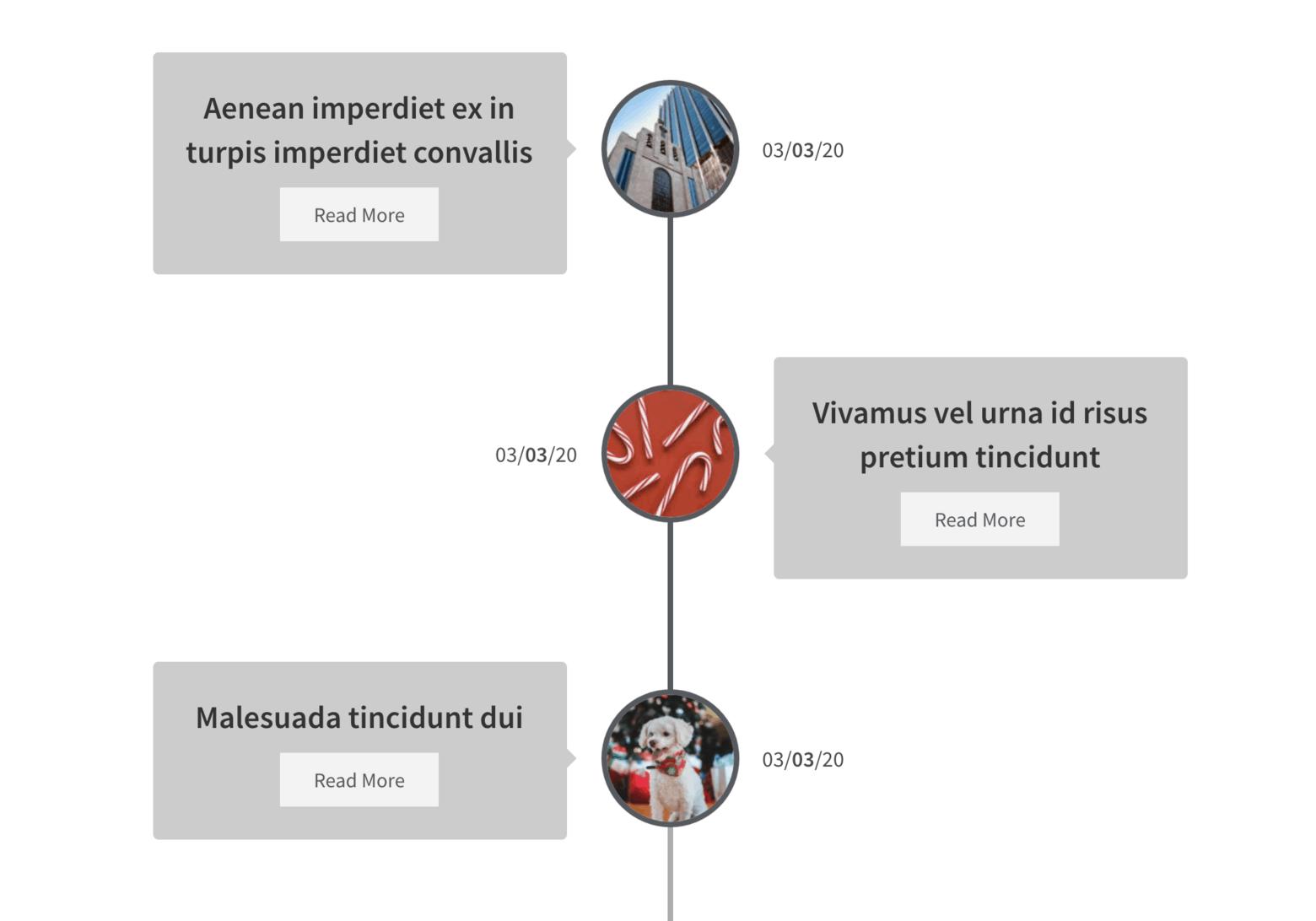 Elementor Widget Timeline Skin for Posts of Dynamic Addons