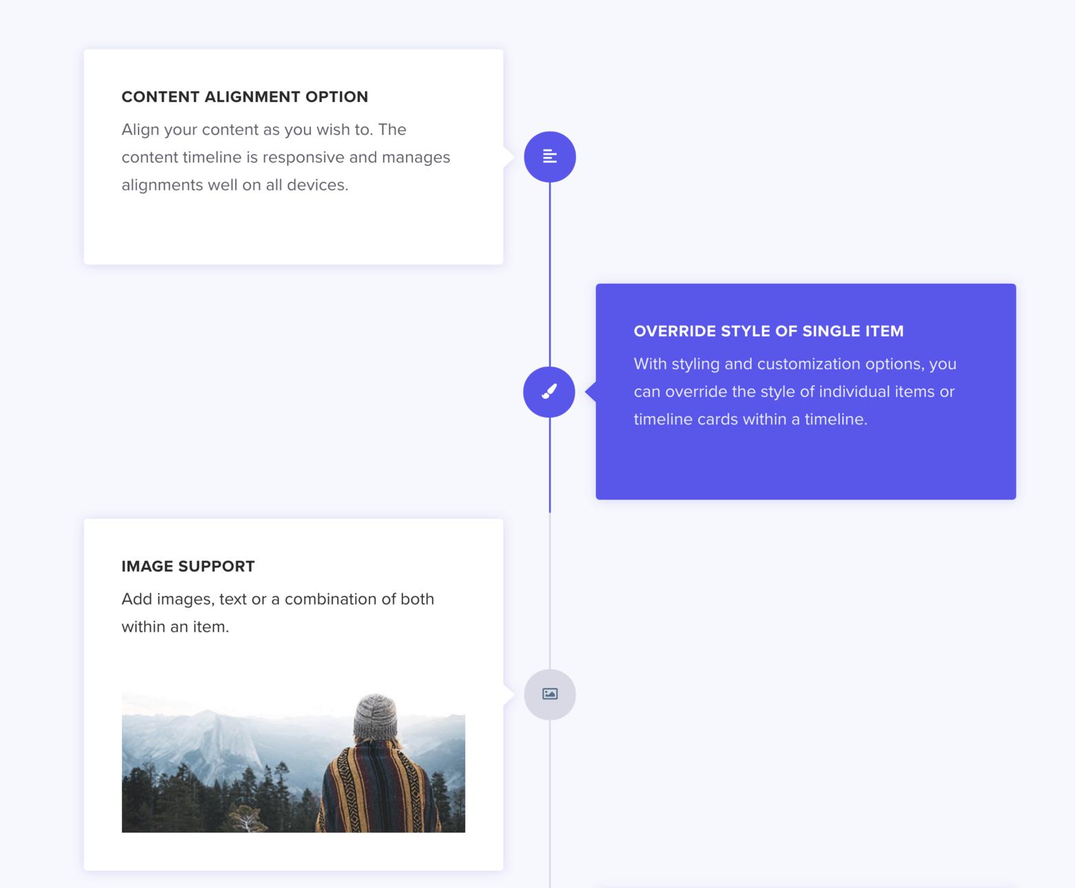 Elementor Widget Timeline of Ultimate Addons