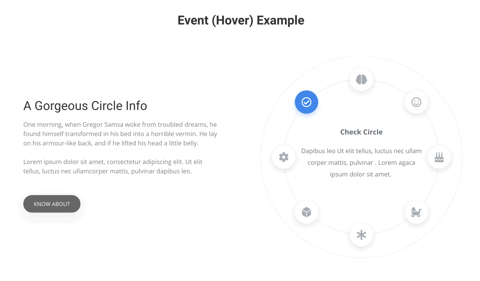 Elementor Widget Circle Info from Element Pack Pro